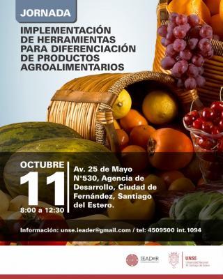 Fern�ndez: este viernes dictaran una jornada para diferenciaci�n de productos agroalimentarios