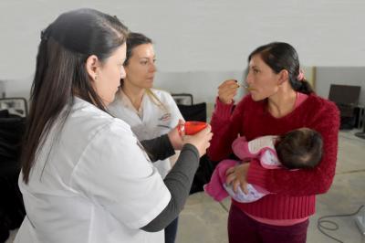 """El programa provincial, """"Mis primeros 1.700 días"""" llegó a El Cruce, departamento Figueroa"""