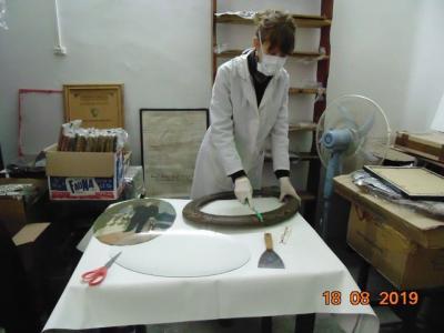 Restauran valiosas piezas del Museo municipal de Fernández
