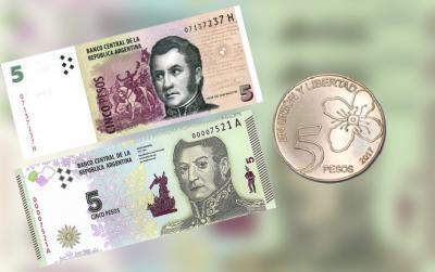 Otorgan prorroga para el retiro de los billetes de cinco pesos
