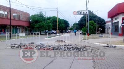Continúan los arreglos a lo largo de la Avenida San Martín