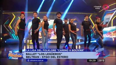 """VIDEO: El Ballet «Los Legüeros» de Beltrán pasó a la final en el programa """"Tu fabuloso finde"""""""