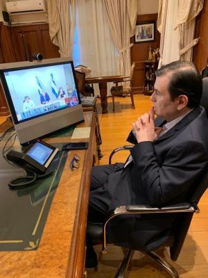 El Gobernador Gerardo Zamora participó de una teleconferencia con el Presidente de la Nación