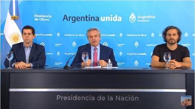 Alberto Fernández: «He tomado la decisión de prolongar la cuarentena hasta que termine semana santa»
