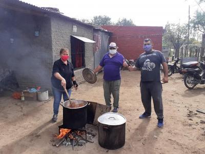 Repartieron 430 viandas en el Barrio Santa Rita y el Paraje La Cuchilla