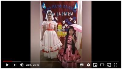 El Centro Experimental Nº 4 realizó un acto virtual con la activa participación de niños