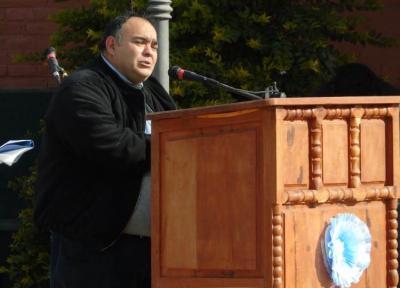 Beltrán: la explanada del ferrocarril fue el escenario para la conmemoración de la Independencia
