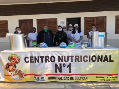 Beltrán: refuerzan centros nutricionales con herramientas, utensilios y alimentos no perecederos