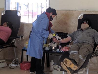 Vecinos de Beltrán mostraron su solidaridad en una colecta de sangre