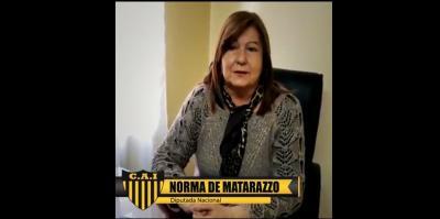 Norma de Matarazzo saludó afectuosamente al Club Independiente de Fernández