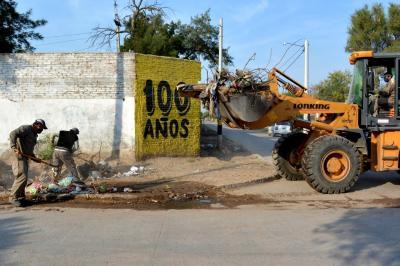 Concretan un amplio operativo de limpieza en el barrio Independiente de Fernández