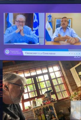 Yocca participó de una reunión virtual junto a Alberto Fernández y Carlos Heller