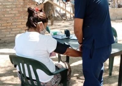 Concretaron un operativo de salud en el Paraje Lomitas