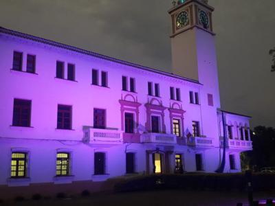 Casa de Gobierno se encuentra iluminada, en adhesión al Día Internacional contra la Violencia de Género