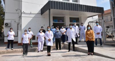Inauguraron el Área Clínica COVID en el Hospital Regional Dr. Ramón Carrillo