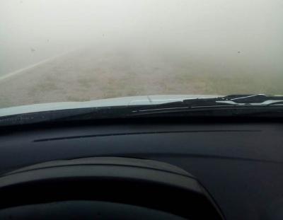 Fuertes ráfagas de viento y tierra complicaron la visibilidad sobre la ruta 34