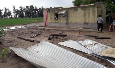 La municipalidad de Beltrán asistió a las familias damnificadas por el temporal