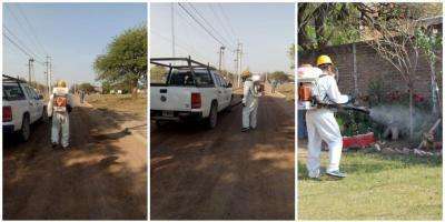 La municipalidad de Fernández intensifica los operativos de fumigación y desinfección