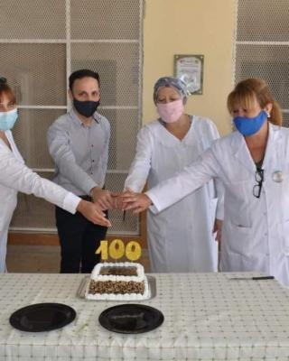 Araujo participó de la celebración del centenario de la escuela de San Ramón