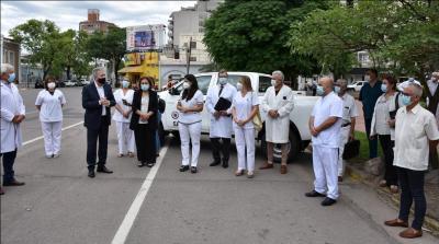 Hospitales del interior recibieron camionetas: el nosocomio de Fernández fue beneficiado con una
