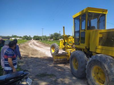 Iniciaron obras de mejora de calles en la Ciudad de Beltrán