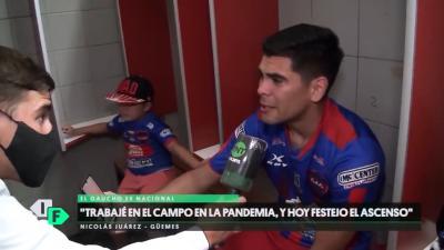 VIDEO: Las lagrimas de alegría de Nico Juárez tras el ascenso de Güemes