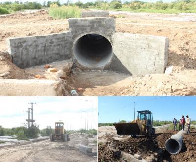 Trabajo en desagües: construyen un puente con mayor capacidad para evitar inundaciones