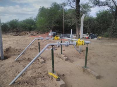Instalan válvulas en la obra de la red de gas natural para San Pedro