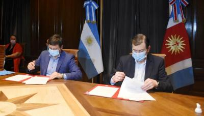 Firmas de convenios marco de cooperación entre el gobierno provincial y la nación