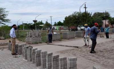 Avanza la pavimentación de calles en distintos puntos de la Ciudad de Fernández