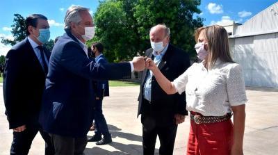 El presidente Alberto Fernández fue recibido por el Gobernador Zamora y la intendenta Norma Fuentes