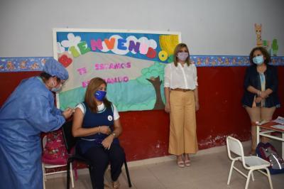 Pasó la segunda jornada de vacunación a docentes y adultos mayores
