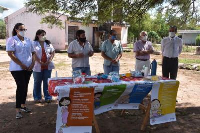 """Programa provincial """"Mis primeros 1.700 días"""" llegó a la localidad de El Caburé"""