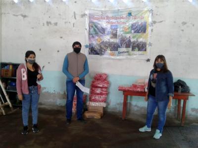 El Comedor Municipal «Niños Felices» de Taboada recibió una importante donación