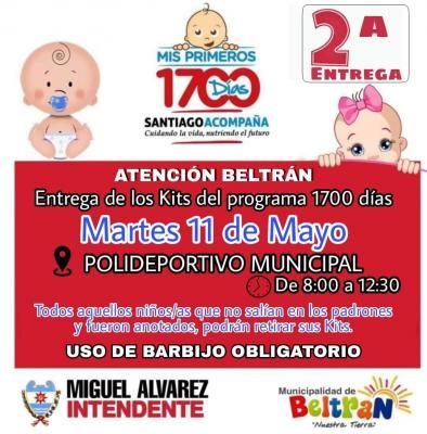 El próximo martes 11 se entregará kits nutricionales a beneficiarios de Beltrán