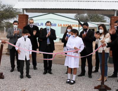 El Gobernador habilitó importantes obras en Anga, departamento Salavina