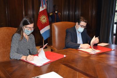 El Gobernador recibió a la directora Ejecutiva de ANSES Fernanda Raverta