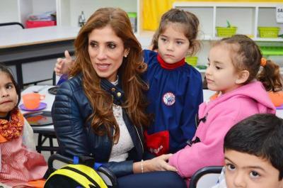 La Gobernadora saludó a los niños en su día