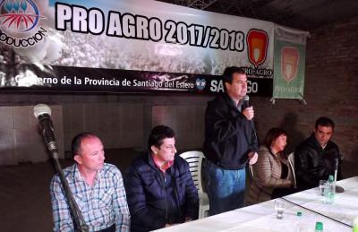 El Ministro Gelid presidió el lanzamiento de la campaña algodonera en Fernández