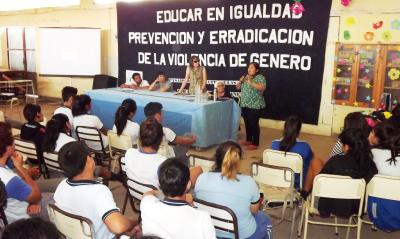 La violencia de Género fue eje de debate en la Técnica Nº12 de Fernández