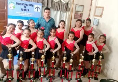 Las chicas de la escuela de Patín de Forres se lucieron en Mendoza