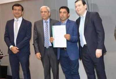 Walter Páez inició su gestión al frente de la Comisión Municipal de Vilmer