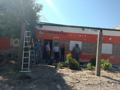 La Cañada trabaja en mejoras de establecimientos escolares