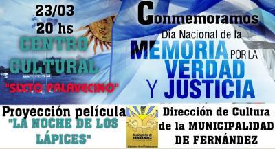 Este viernes conmemoraran el día de la memoria