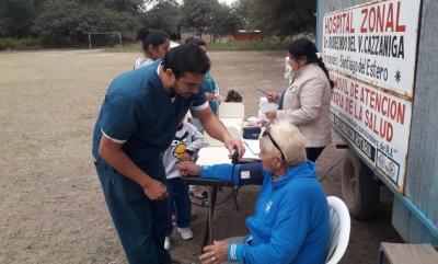 El hospital de Fernández realiza operativos de salud en lugares alejados