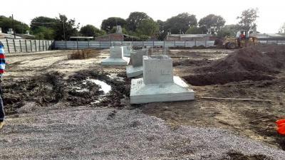 Avanza la construcción de la nueva terminal de Fernández