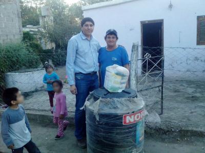 Familias de Taboada fueron beneficiados con tanques para almacenar agua potable