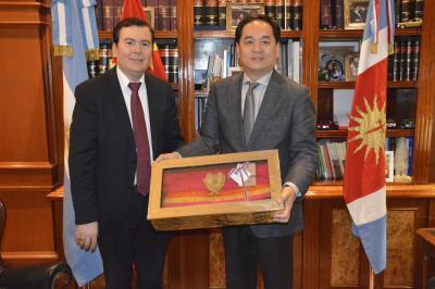 Gobernador recibió la visita del embajador de China