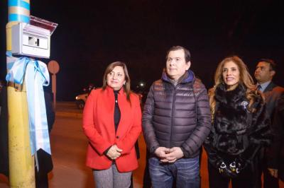 El Gobernador inauguró la refacción del monumento del  Cristo Redentor