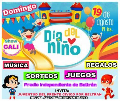 Los niños de Beltrán tendrán su fiesta este domingo en el club independiente